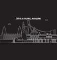 abidjan skyline cote divoire - abidjan vector image vector image