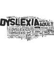 adult dyslexia test are you in the that need it vector image vector image