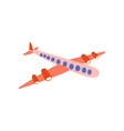 airplane flying aaircraft side view cartoon vector image vector image