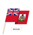 Bermuda Ribbon Waving Flag Isolated on White vector image
