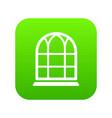 big window frame icon green vector image vector image