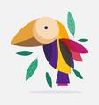 bird vibrant color feather foliage nature fauna vector image