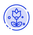 bouquet flowers present blue dotted line line icon vector image vector image