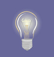 bright of lightbulb vector image vector image