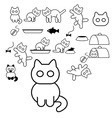 Cats icons vector image vector image
