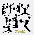 Cheerleader happy girl silhouette vector image vector image