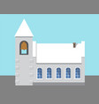 church with big bell poster vector image