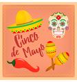 Cinco de Mayo Mexican festival vector image