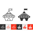 circus tent simple black line icon vector image vector image