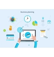 Concept with icons set of modern business working vector image
