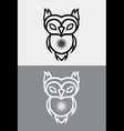 cute owl tribal vector image vector image