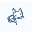 Dog with muzzle sketch icon vector image vector image