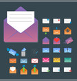 Email envelope cover icons communication and