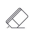 eraser line icon sign on vector image vector image