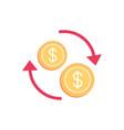 exchange trade commerce money business finance vector image vector image