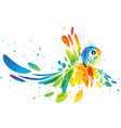 fantasy colorful bird vector image vector image