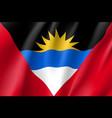 flag antigua barbuda realistic icon vector image
