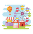 Fun fair carnival ferris wheel booth ticket food