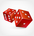 game dices isolated on white background vector image vector image