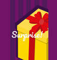 gift box surprise card vector image vector image