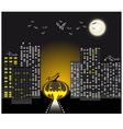 Halloween urban scene vector image vector image