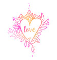 hand drawn lettering love text vector image