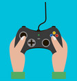 hand hold video game controller gamepad vector image vector image