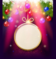 holiday paper round labels vector image
