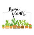 home plants framed with home vector image vector image