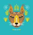 lynx big cat panther vector image
