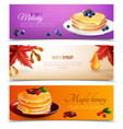 maple syrup banners set vector image vector image