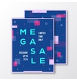 Mega Sale Season Poster Card or Flyer Template vector image vector image
