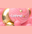 merry christmas holiday 3d vector image