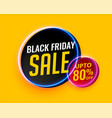 modern black friday creative sale background vector image