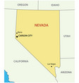nevada - state usa vector image vector image