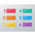 paper speech bubbles infographics vector image vector image