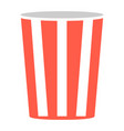 pop corn popcorn box isolated vector image