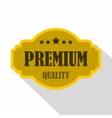 Premium quality label icon flat style vector image vector image