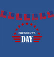president day america logo vector image vector image