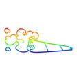 rainbow gradient line drawing cartoon smoking vector image vector image