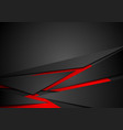 Red and black tech corporate abstract background