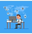 Remote team working concept Work from home vector image