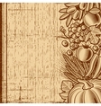 Retro harvest background brown vector image vector image