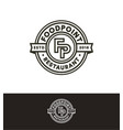 retro stamp circle logo template black vector image