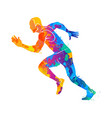 running sprinter athlete vector image vector image