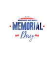 sale banner or poster happy memorial day vector image