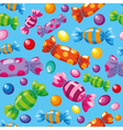 Seamless pattern candies blue vector | Price: 1 Credit (USD $1)