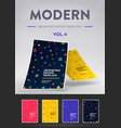 set cards with modern geometric patterns vector image