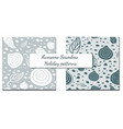 set of two winter patterns in vector image vector image
