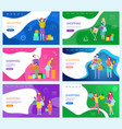 shopping woman and man family with kid and bags vector image vector image